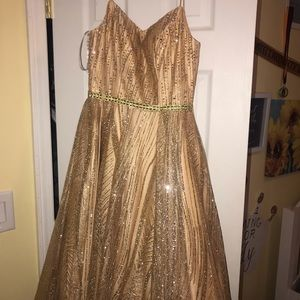 Gold Tiffany Prom Dress